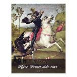 San Jorge que lucha el dragón de Raffael Folleto 21,6 X 28 Cm