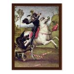 San Jorge que lucha el dragón de Raffael Postal