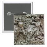 San Jorge que lucha el dragón Pin Cuadrado