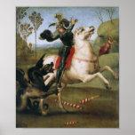 San Jorge que lucha el dragón, Raphael Poster