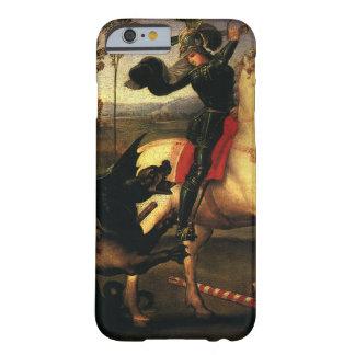 San Jorge que lucha el dragón, Raphael, Raffaello Funda Para iPhone 6 Barely There