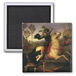 San Jorge que lucha el dragón, Raphael, Raffaello Imán Cuadrado