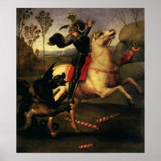 San Jorge que lucha el dragón, Raphael, Raffaello Póster