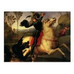 San Jorge que lucha el dragón, Raphael, Raffaello Postal