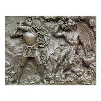 San Jorge que lucha el dragón Postal