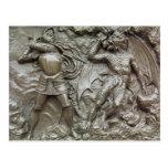 San Jorge que lucha el dragón Tarjetas Postales