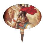 San Jorge que mata a la pintura del arte del dragó Figuras De Tarta