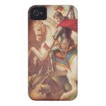 San Jorge que mata a la pintura del arte del dragó iPhone 4 Cárcasas