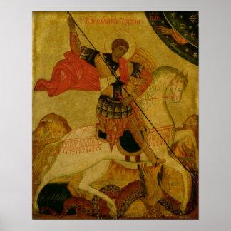 San Jorge que mata el dragón Póster