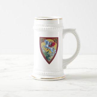 San Jorge que mata el dragón Stein Jarra De Cerveza