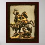San Jorge que mata la impresión del arte del dragó Posters