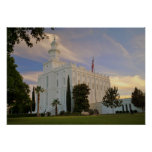 San Jorge Utah, templo de LDS Poster