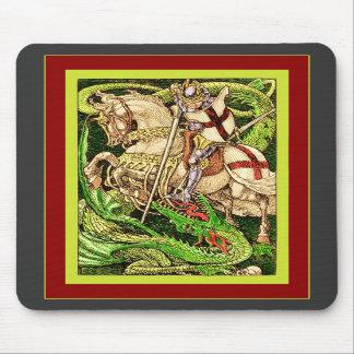 San Jorge y el arte Nouveau del vintage del ~ del  Tapete De Raton