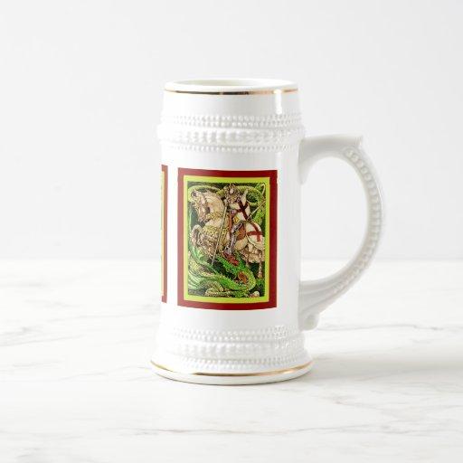 San Jorge y el arte Nouveau del vintage del ~ del  Taza De Café