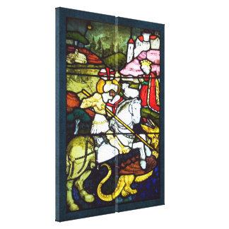 San Jorge y el doble del vitral del dragón
