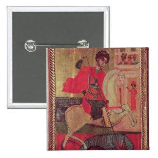 San Jorge y el dragón, 1667 Pin Cuadrado