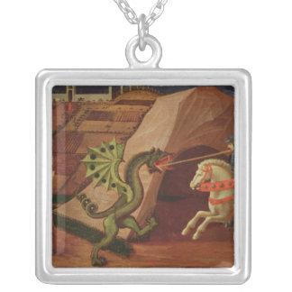 San Jorge y el dragón, c.1439-40 Collar Plateado