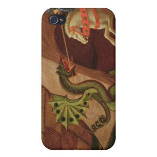 San Jorge y el dragón, c.1439-40 iPhone 4 Carcasas
