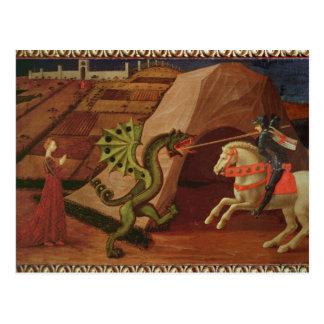 San Jorge y el dragón, c.1439-40 Postal