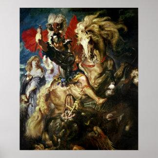 San Jorge y el dragón, c.1606 Poster