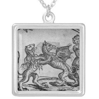 San Jorge y el dragón Colgante Cuadrado