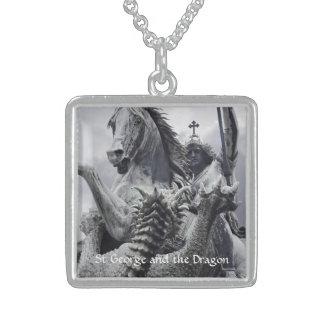 San Jorge y el dragón Collar De Plata De Ley