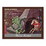 San Jorge y el dragón de Uccello Pablo Invitación 10,8 X 13,9 Cm