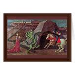 San Jorge y el dragón de Uccello Pablo Tarjeta