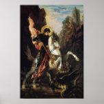 San Jorge y el dragón, Gustave Moreau Poster