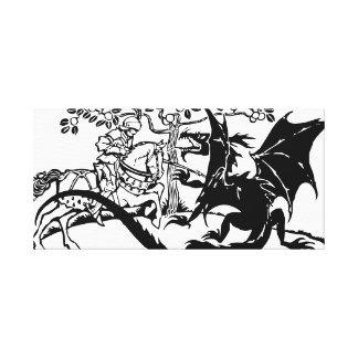 San Jorge y el dragón Impresiones En Lienzo Estiradas