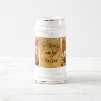 San Jorge y el dragón Jarra De Cerveza
