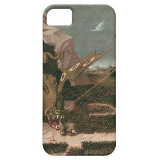 San Jorge y el dragón; Paolo Uccello; c.1460 iPhone 5 Fundas