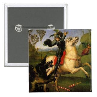 San Jorge y el dragón Pin Cuadrada 5 Cm