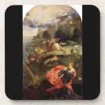 San Jorge y el dragón por Tintoretto Posavasos De Bebidas