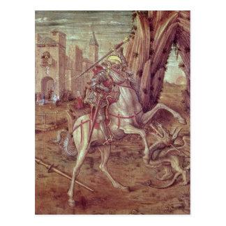 San Jorge y el dragón Postal