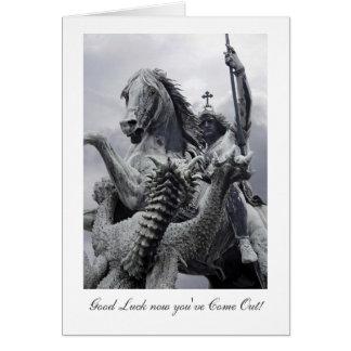 San Jorge y el dragón, suerte con salir Tarjeta De Felicitación