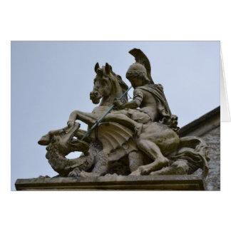 San Jorge y el dragón Tarjeta De Felicitación