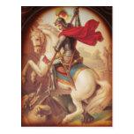 San Jorge y el dragón Tarjeta Postal