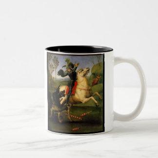 San Jorge y el dragón Taza De Dos Tonos