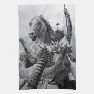 San Jorge y el dragón Toallas De Mano