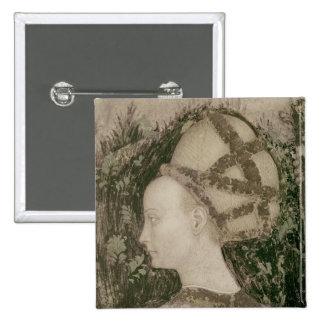 San Jorge y la princesa de Trebizond Pin Cuadrada 5 Cm