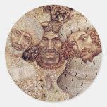 San Jorge y la princesa Details By Pisanello Pegatinas Redondas