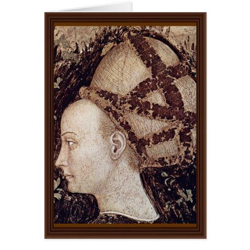 San Jorge y la princesa Details By Pisanello Tarjeta De Felicitación