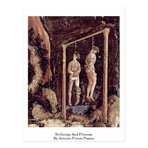 San Jorge y princesa By Antonio Puccio Pisano Postales