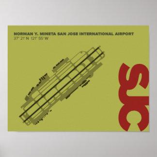 San Jose Airport (SJC) Diagram Poster