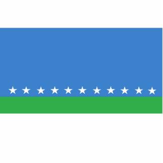 San Jose bandera de Costa Rica, los Comoro Fotoescultura Vertical