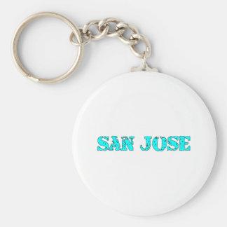 San Jose Basic Round Button Keychain