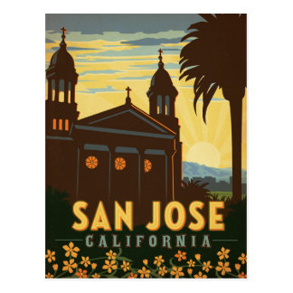 San Jose, CA Tarjeta Postal