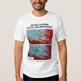 San Jose, California 1973 vs 1999 Urban Growth T Shirt