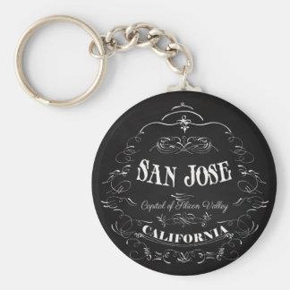 San Jose, California - capital de Silicon Valley Llavero Redondo Tipo Pin